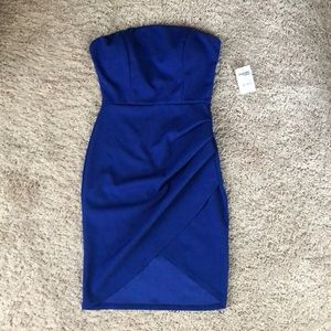 Strapless royal blue stretchy dress!